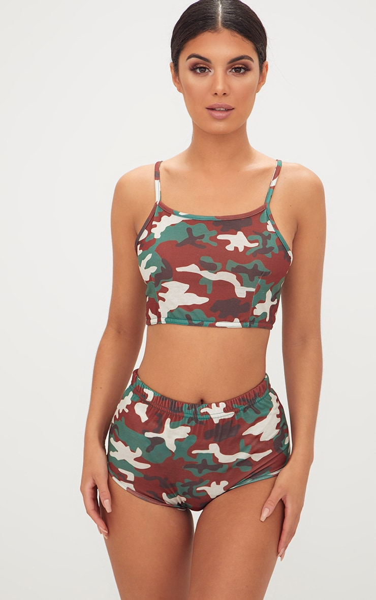 discount coupon up-to-datestyling huge discount Basic Camo Bralet & Knicker Co-Ord