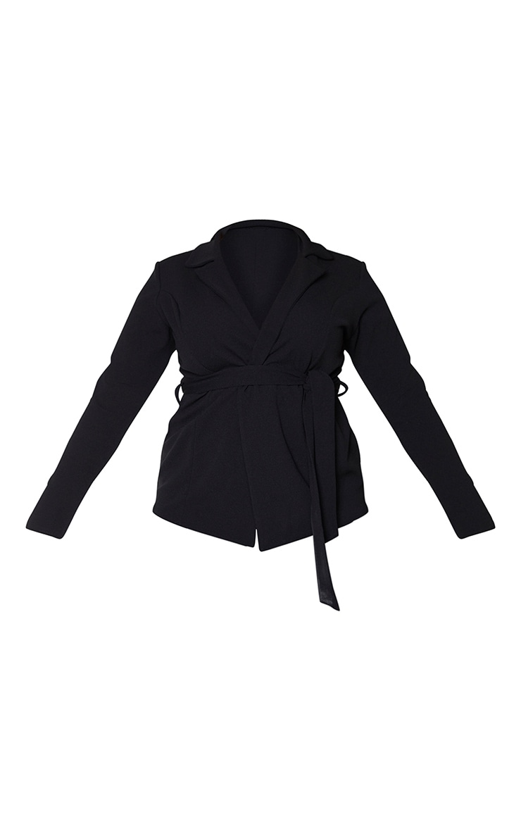 Plus Black Belted Blazer 5