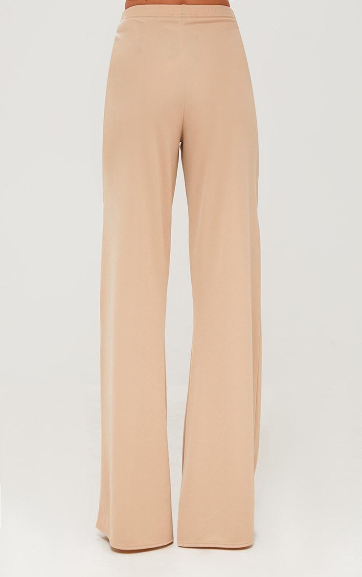 Stone Bow Wrap Wide Leg Trousers 4