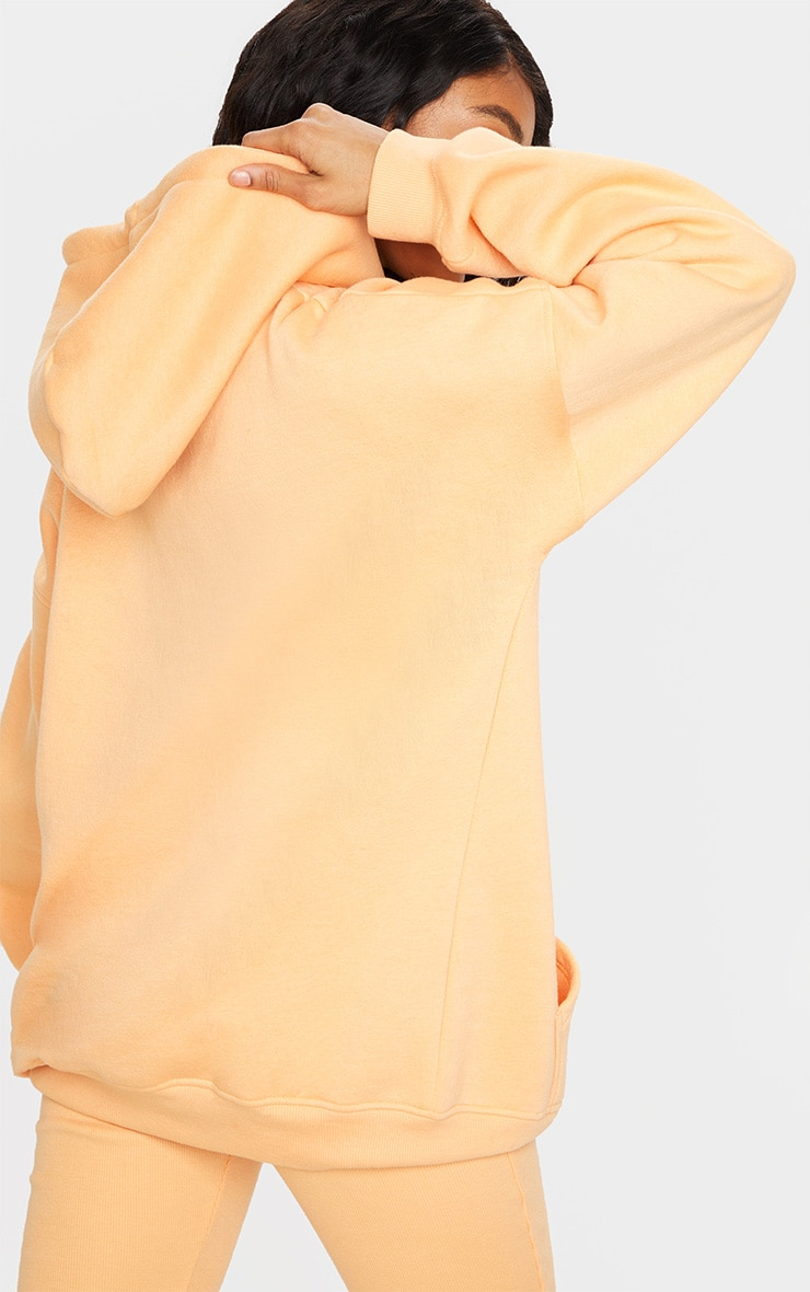 Peach Oversized Pocket Front Drawstring Hoodie 2