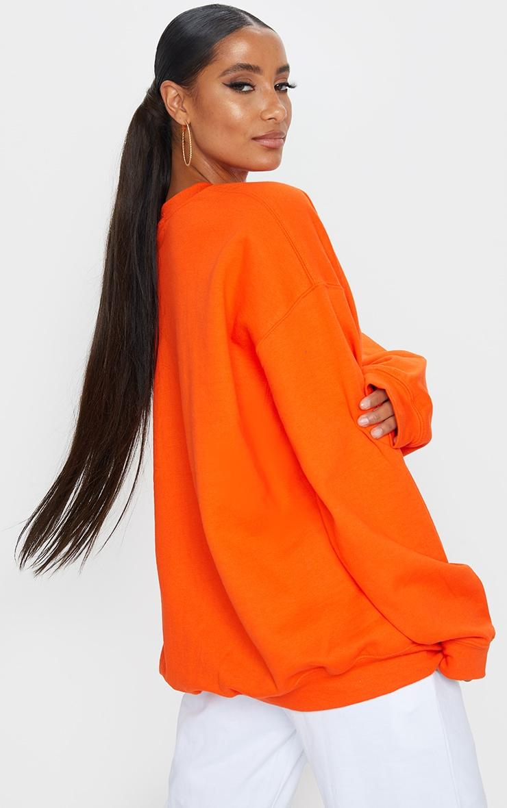 Orange Basketball Varsity Sweatshirt 2