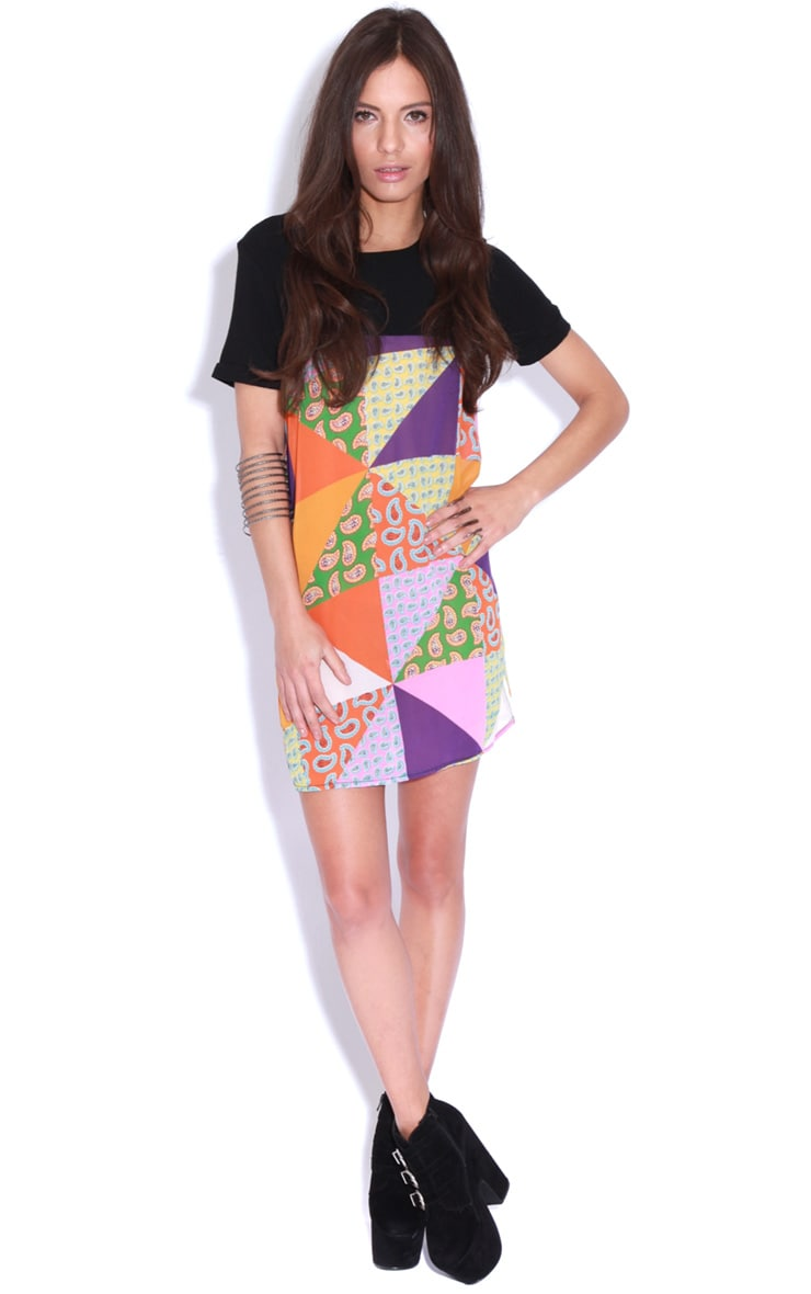 Vita Purple Patchwork Shift Dress 3