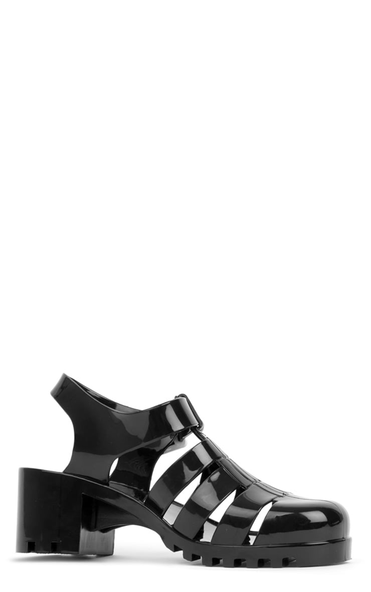Kassidy Black Jelly Shoe With Cleated Sole 2
