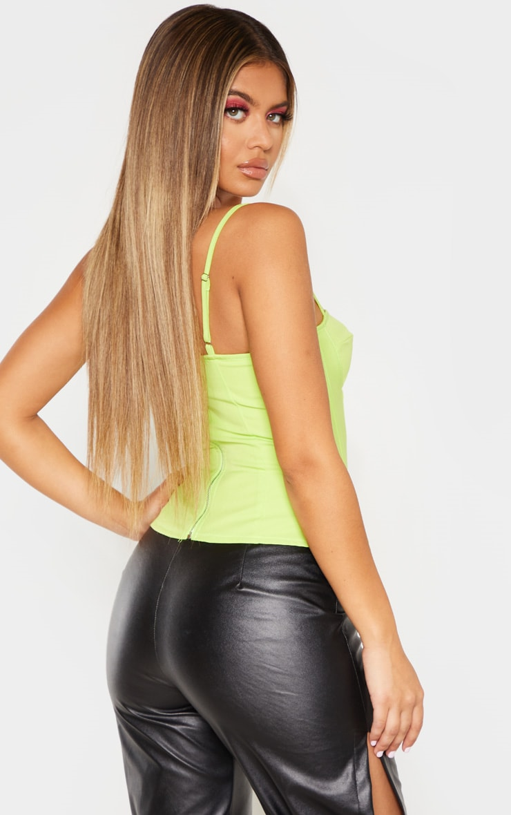 Lime Structured Corset Top 2
