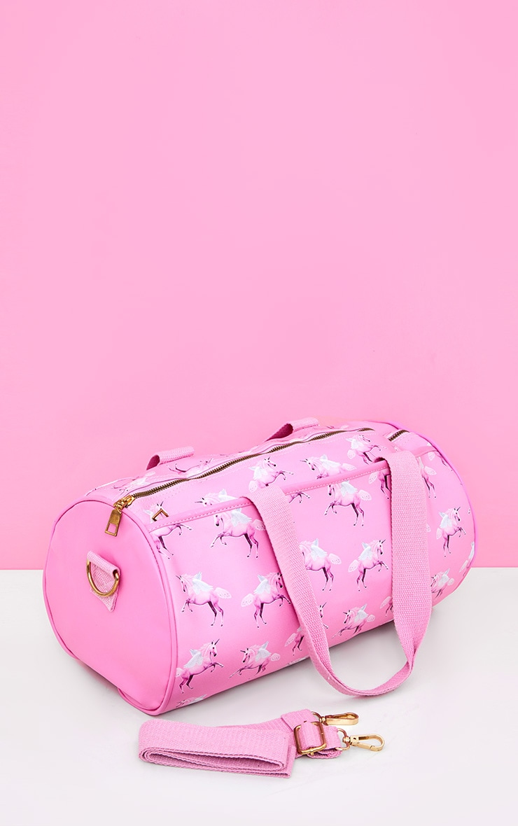 Sac de gym rose à licornes PrettyLittleThing