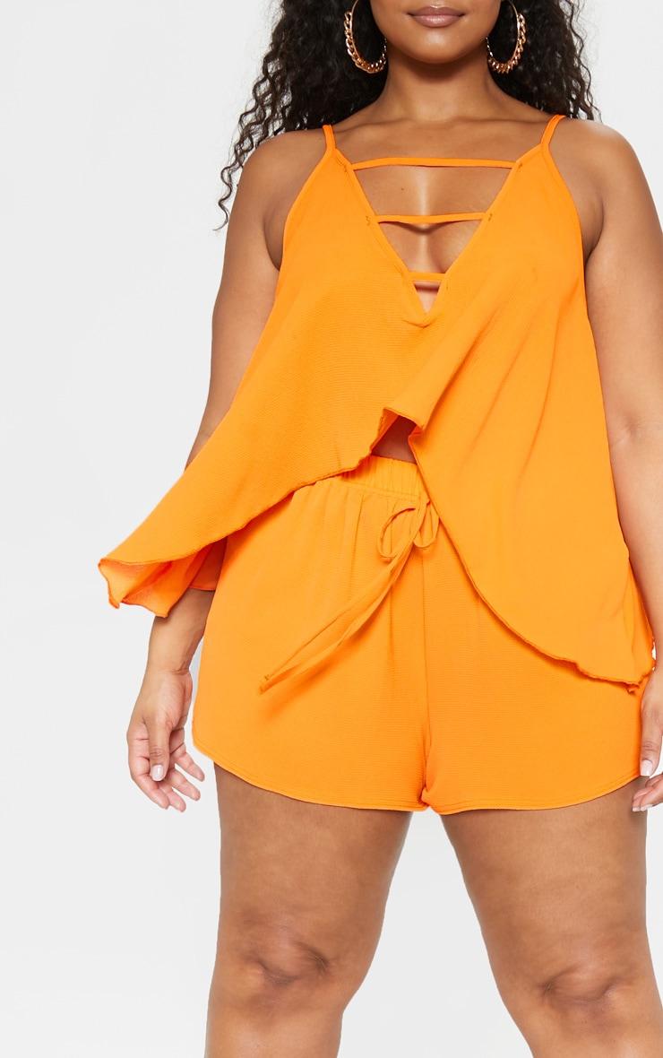 Plus Bright Orange Cami Top  5