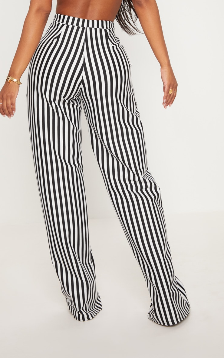 Shape Black Striped Wide Leg Trousers 4