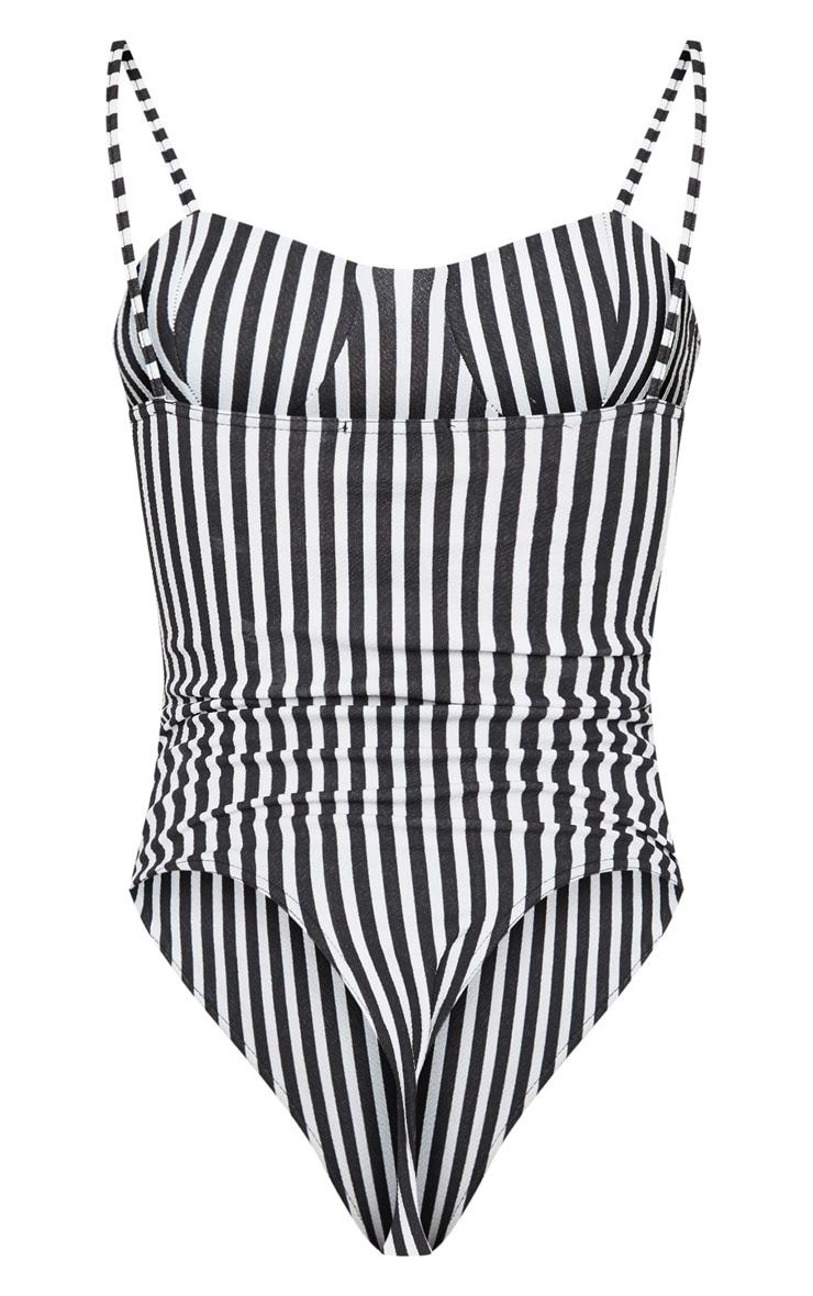 Mono Stripe Cup Detail Bodysuit 4