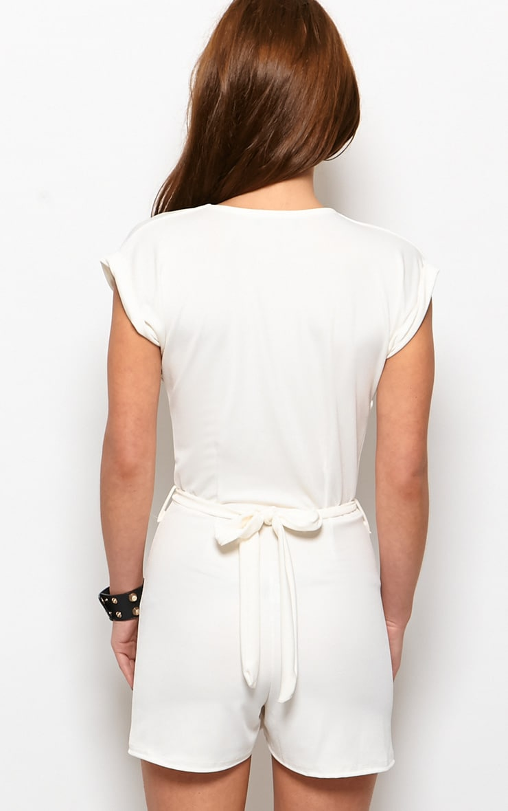 Kacey Cream Crossover Playsuit  2