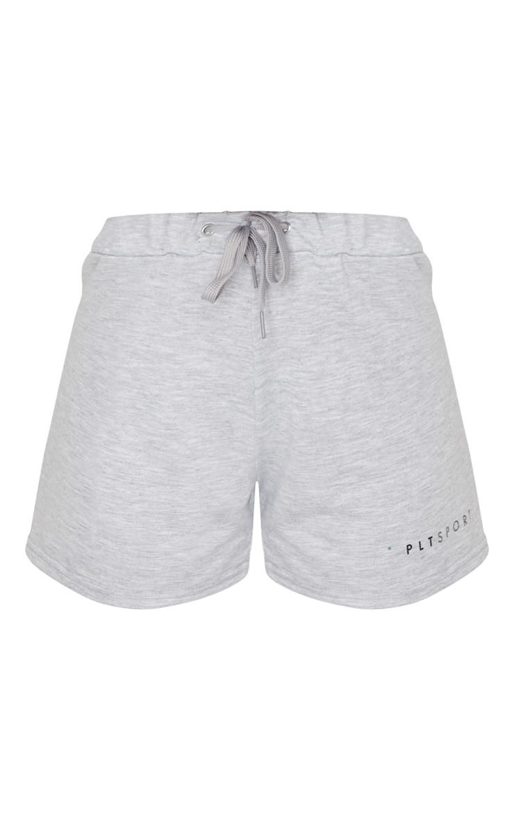 PRETTYLITTLETHING Grey Sport Soft Sweat Short 6