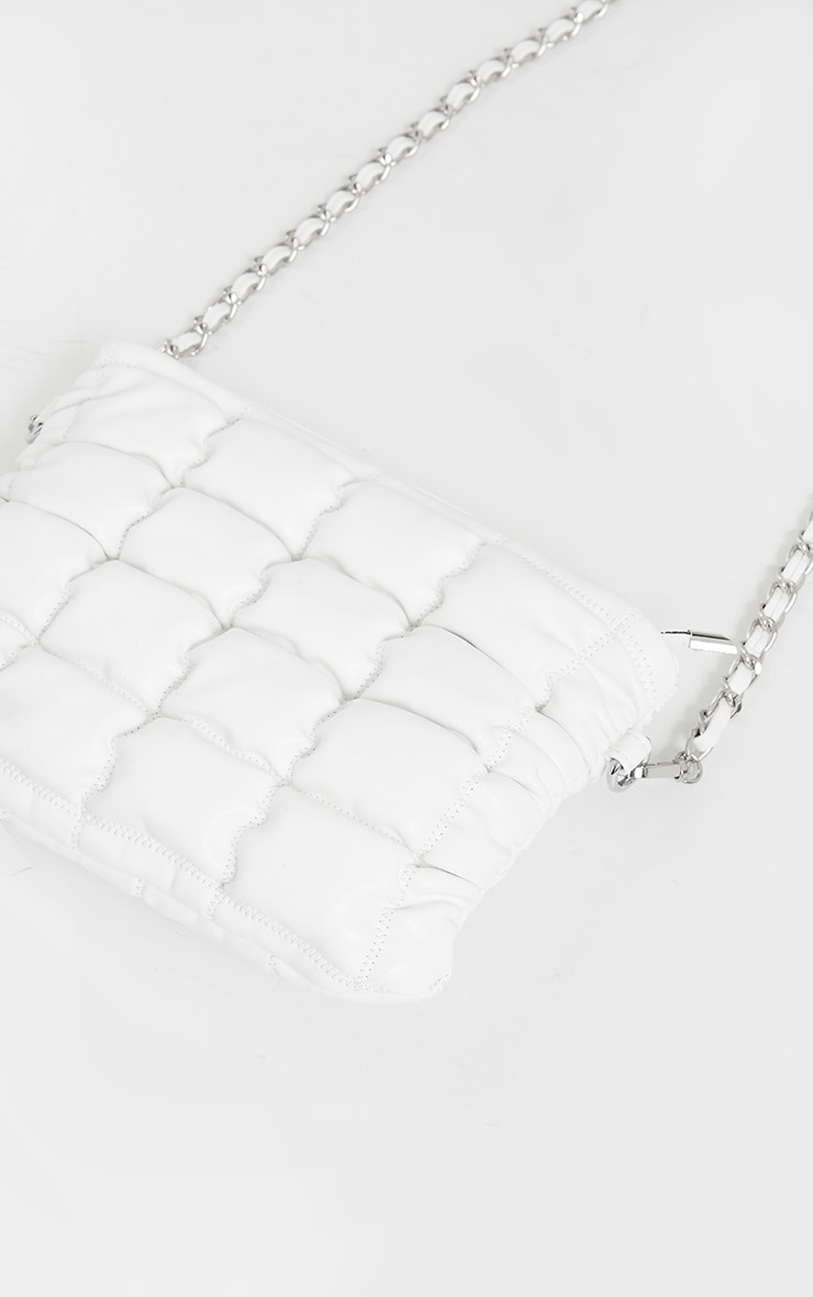 White Quilted Cross Body Bag 2