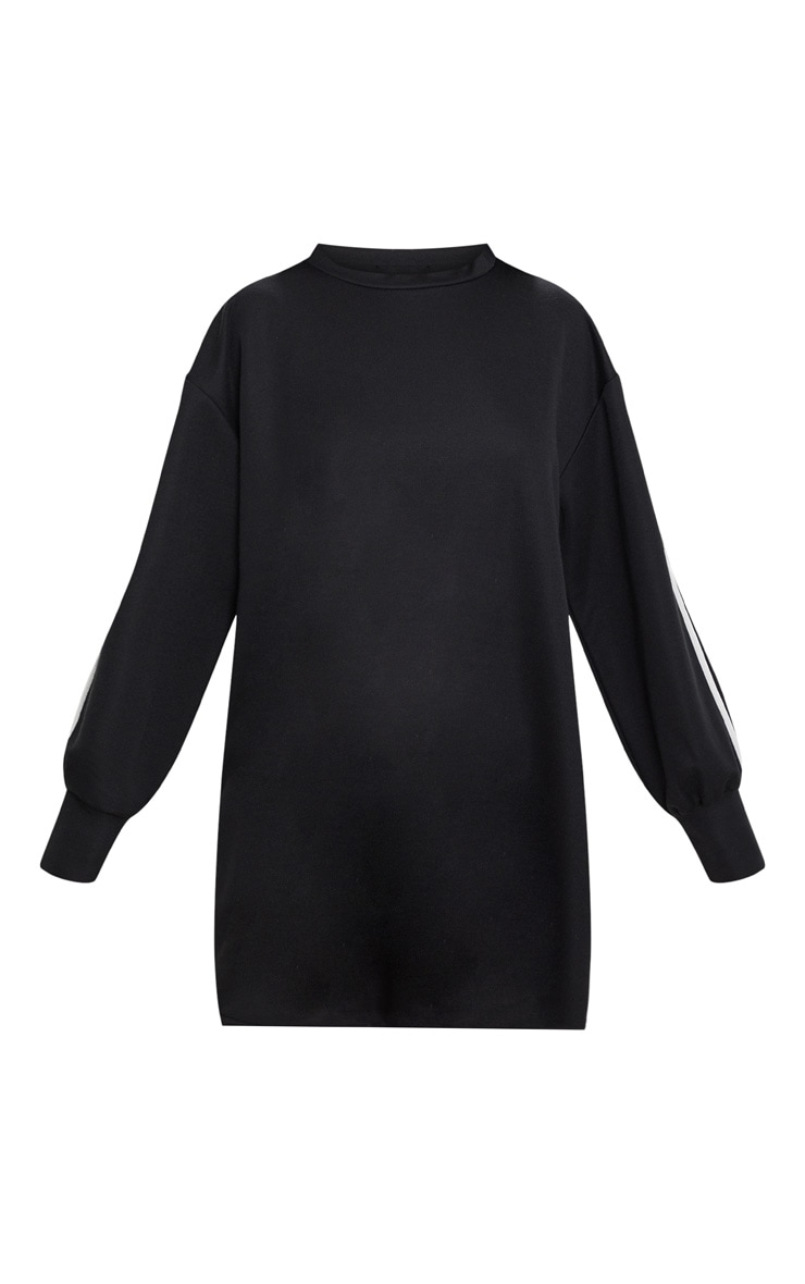Black Side Stripe Jumper Dress 3
