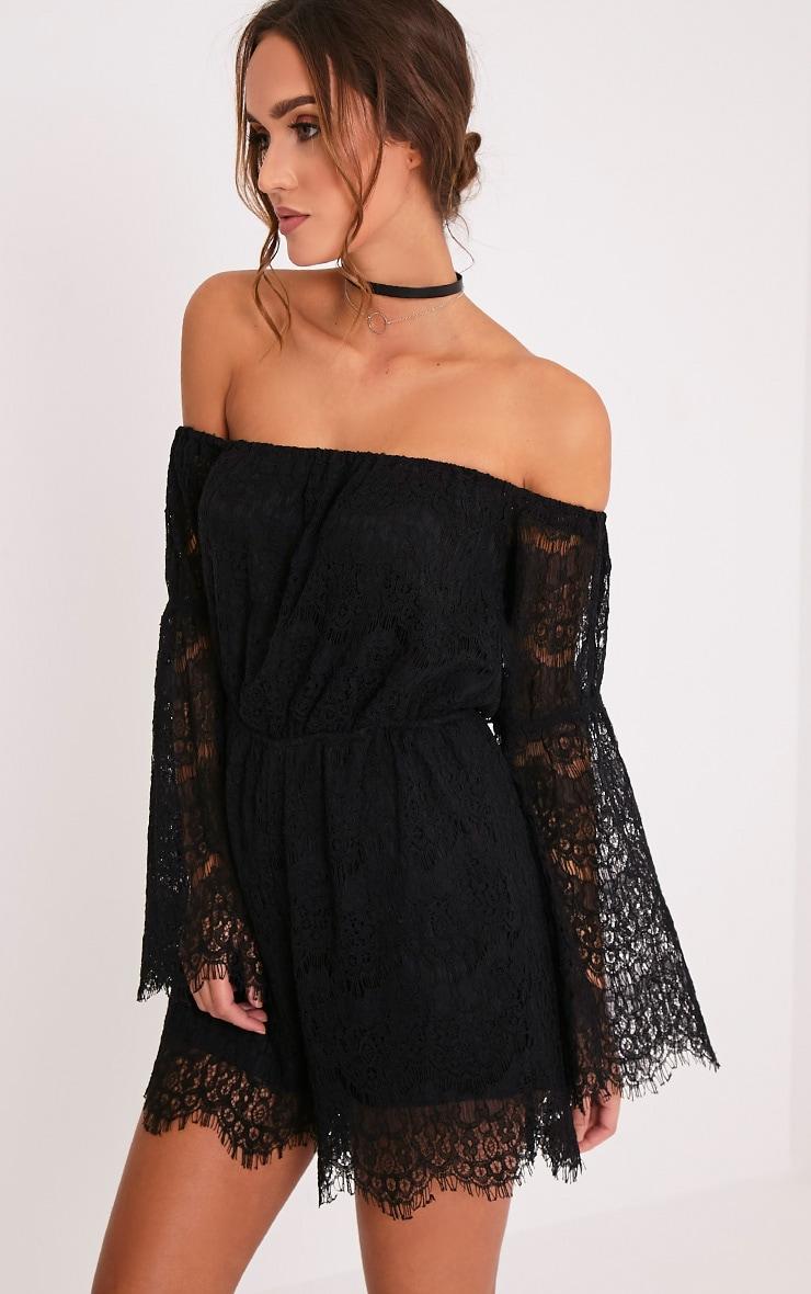 Juliah Black Lace Playsuit 4