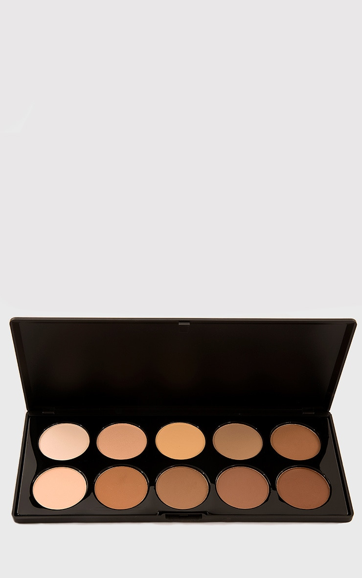 Crown 10 Colour Pressed Powder Contour Palette 1