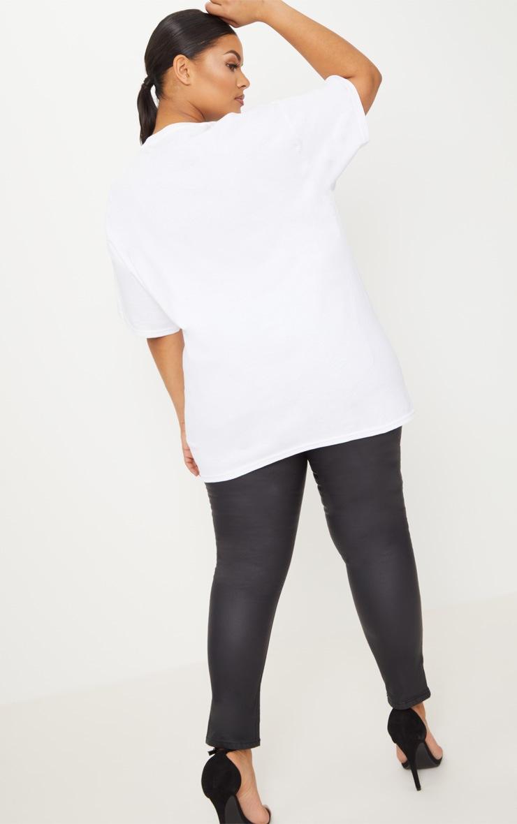 Plus White Mojito Slogan T Shirt 2
