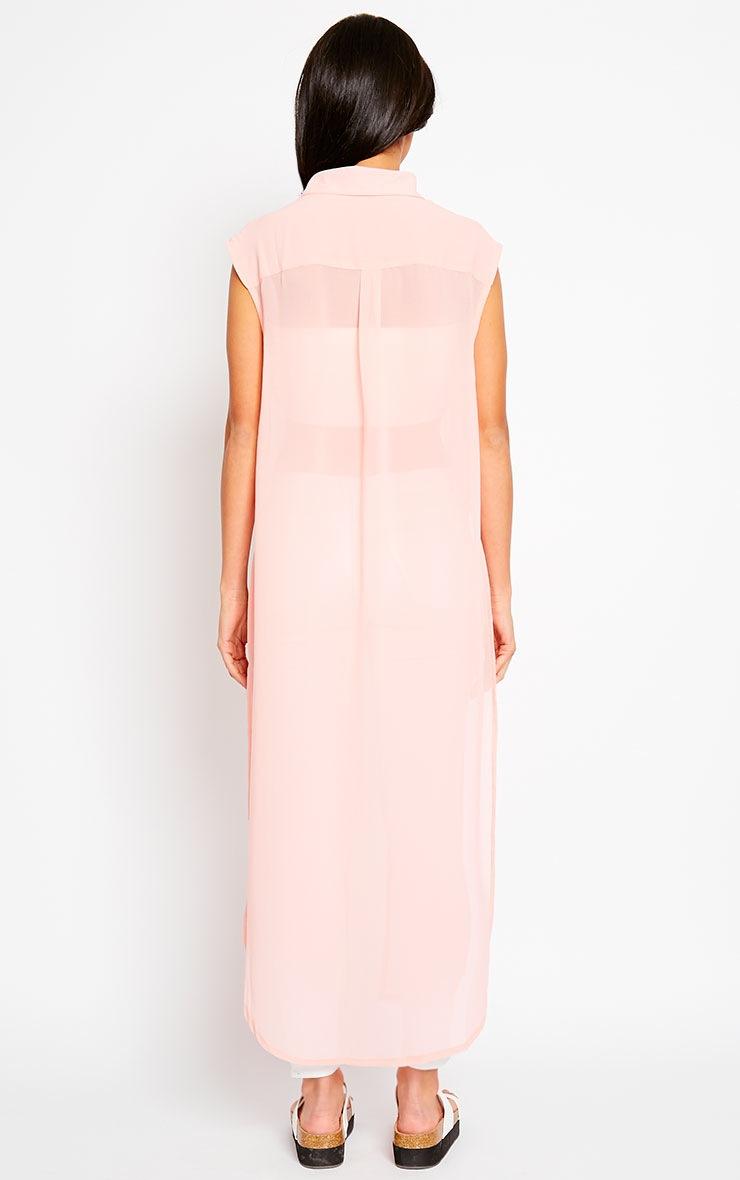 Cyndi Pink Cut Out Shirt Dress 2