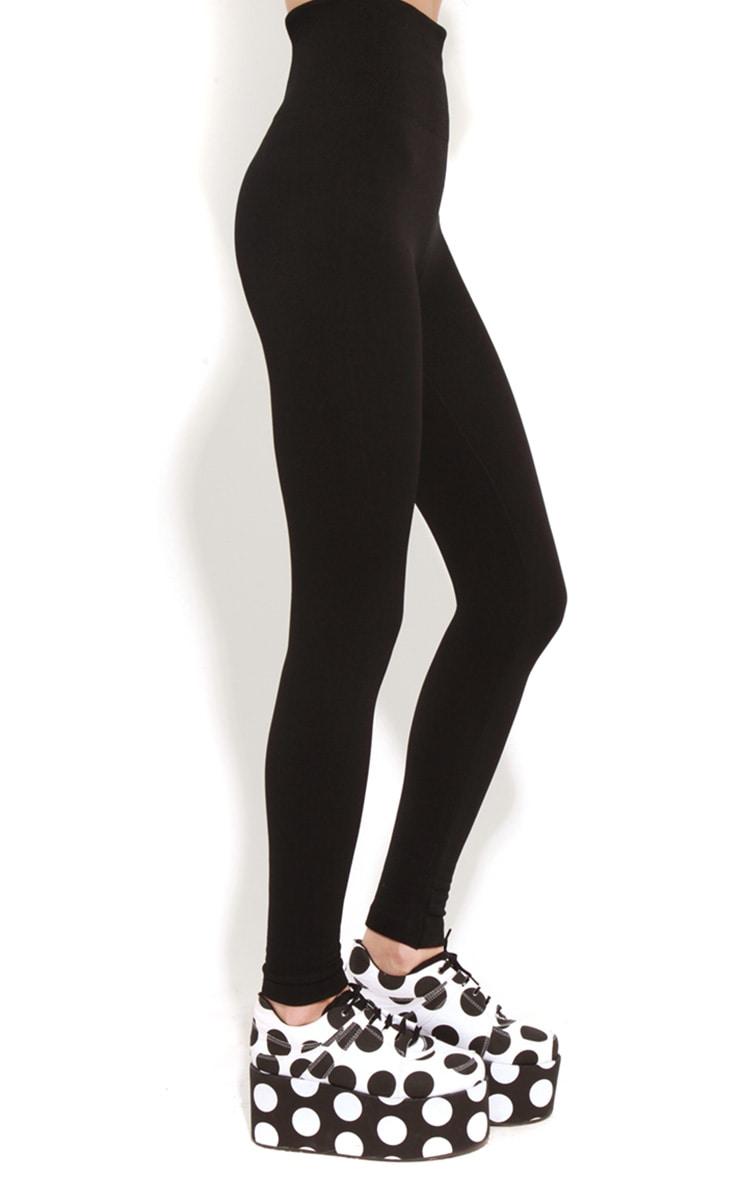 Ruby Black Jersey Leggings 5