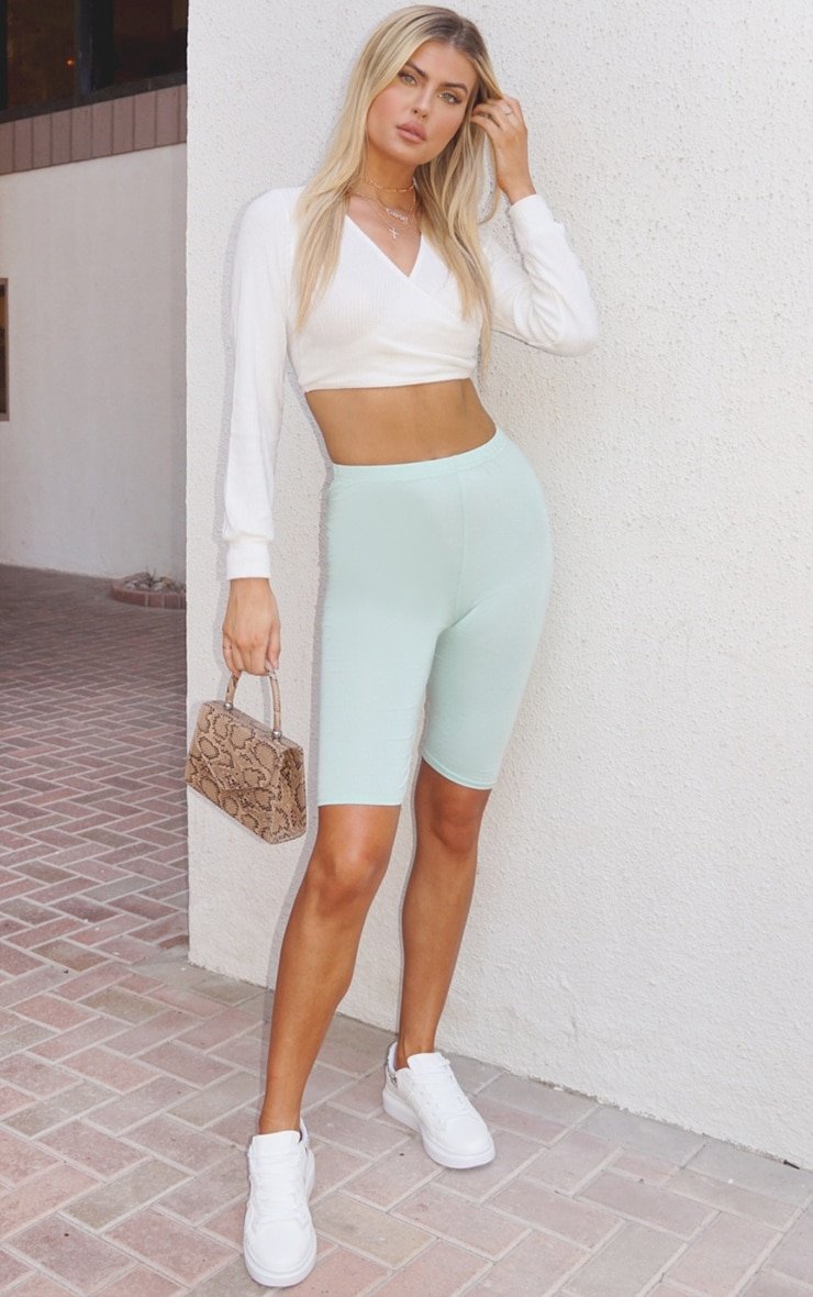 Tall Mint Jersey Cycle Short 4