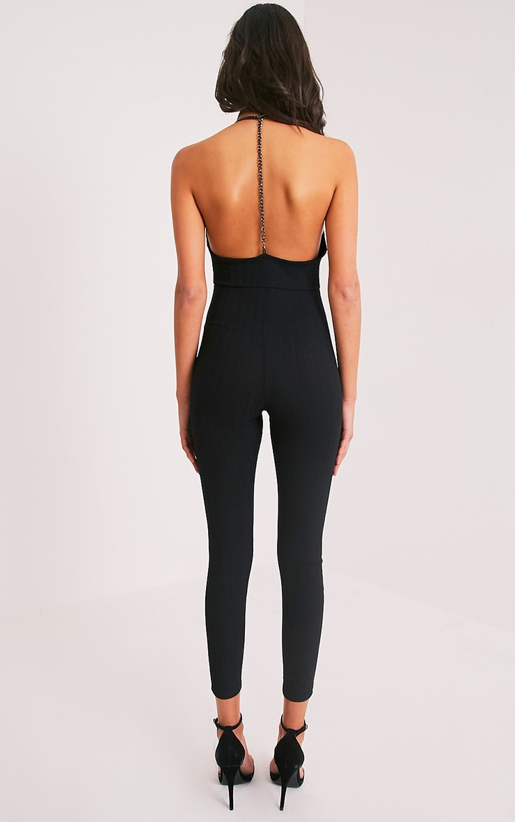 Neyan Black Chain Bandage Jumpsuit 2