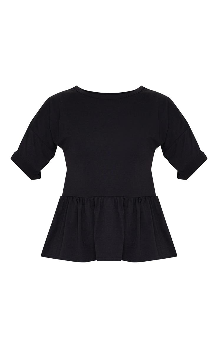 Black Frill Hem T Shirt 5