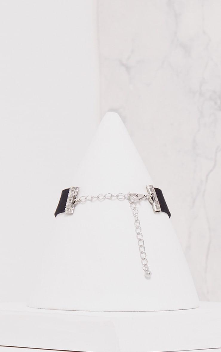 Ceilia Black Diamante Cross Choker 3
