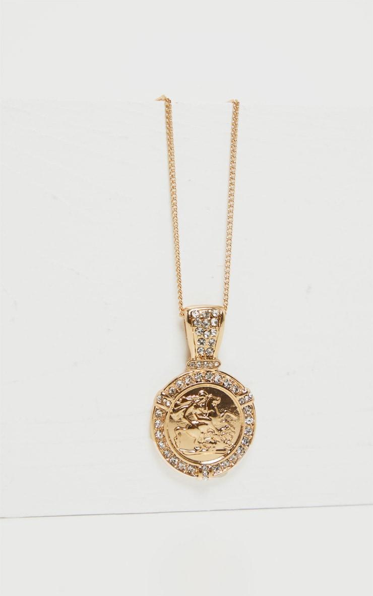 Collier doré à piécette romaine  3