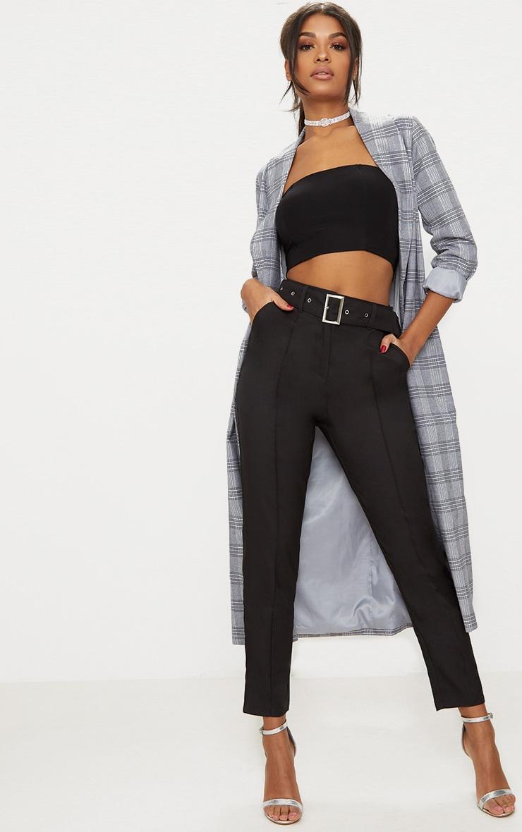 853700754c84a Pantalon ajusté à ceinture noir | Pantalons | PrettyLittleThing FR