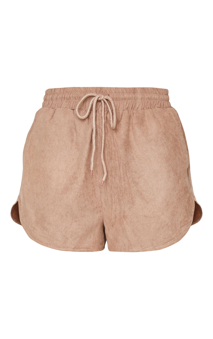 Taupe Cord Pocket Detail Longline Shorts 6
