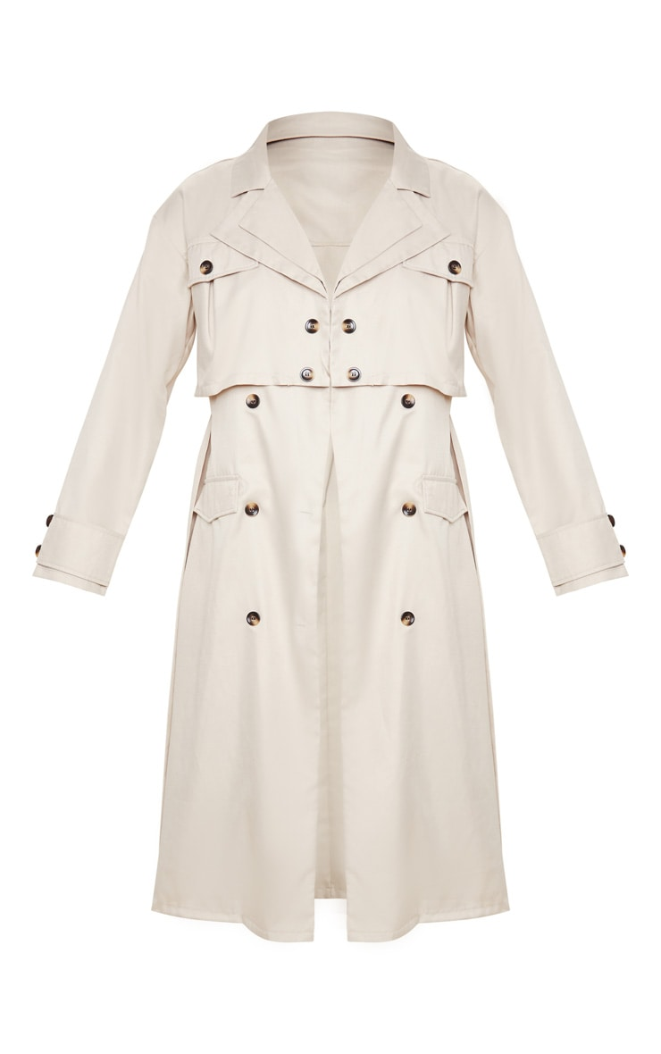 Stone Oversized Belted Trench Coat 3