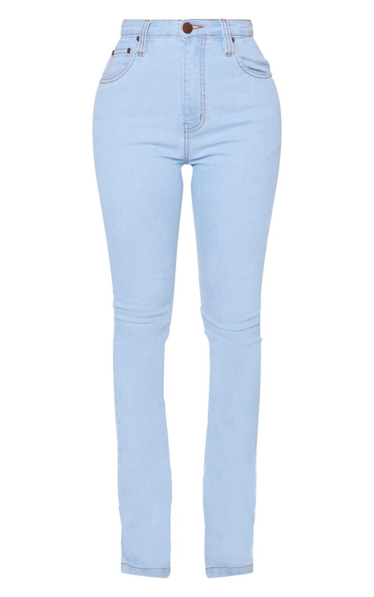 Shape Light Blue Wash Stretch Denim Flared Jean 3