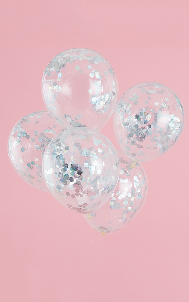 GINGER RAY Iridescent Confetti Balloons Pastel Party 2