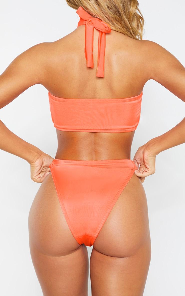 Coral Diamante Jewel Bikini Bottom 3