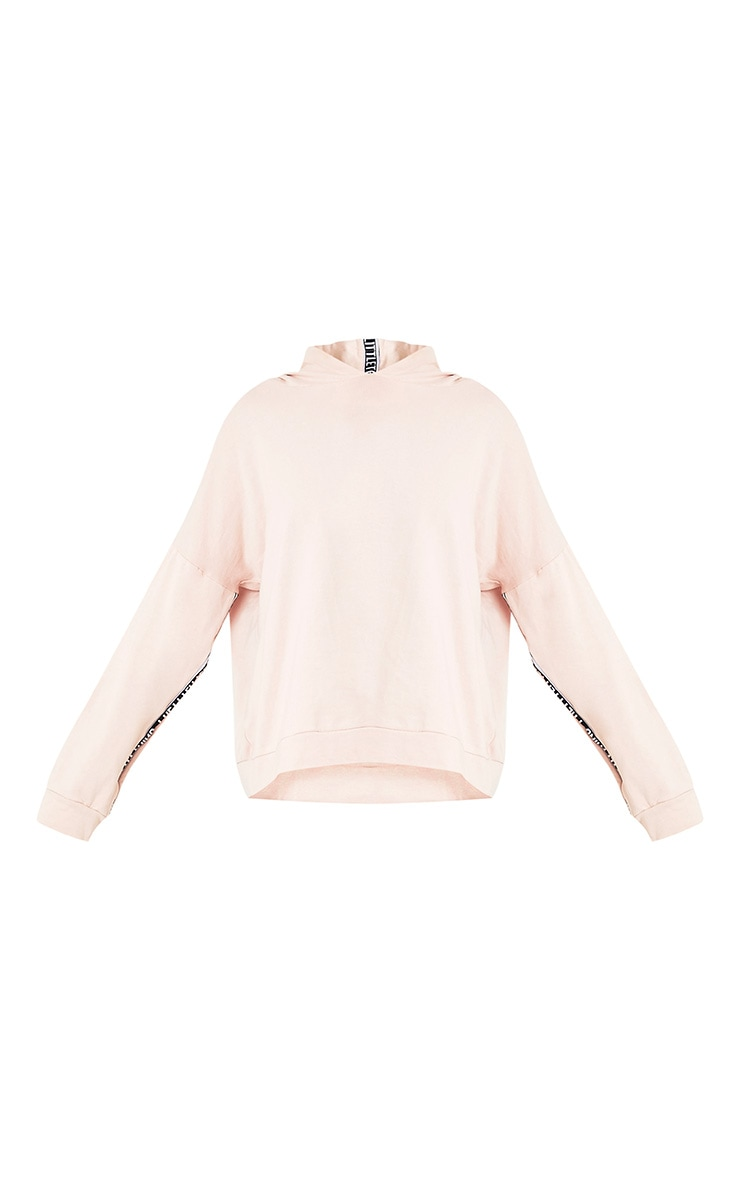 PRETTYLITTLETHING Pink Oversized Hoodie 4