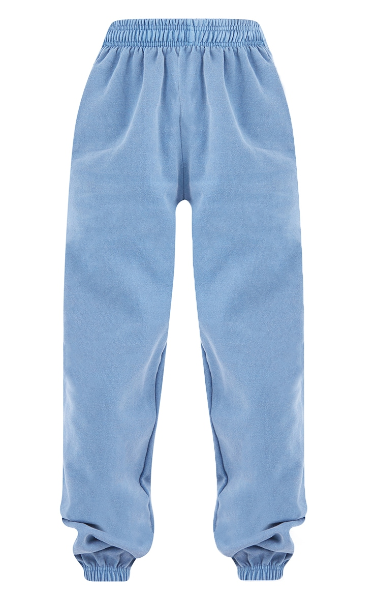 Recycled Mineral Blue Washed Joggers 5