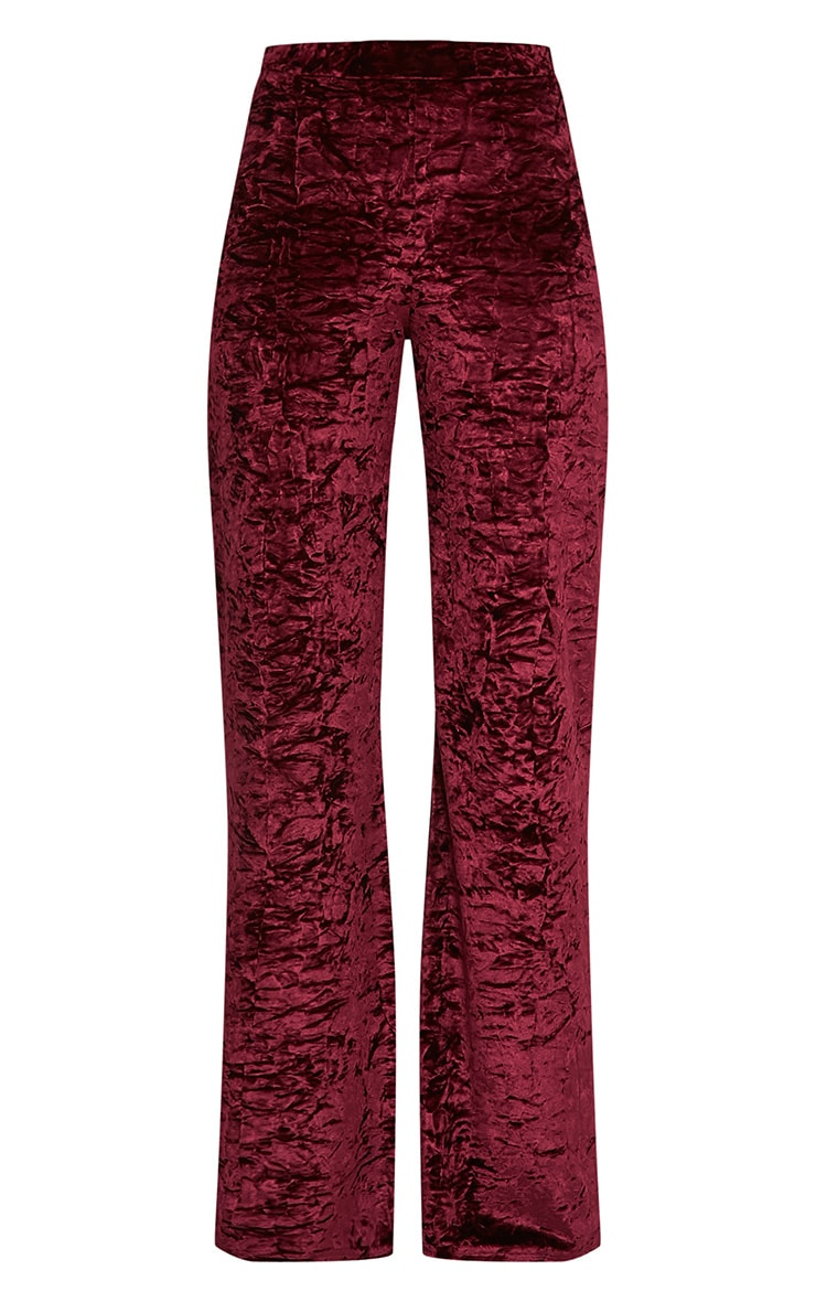 Jill Berry Crushed Velvet Palazzo Trousers 3