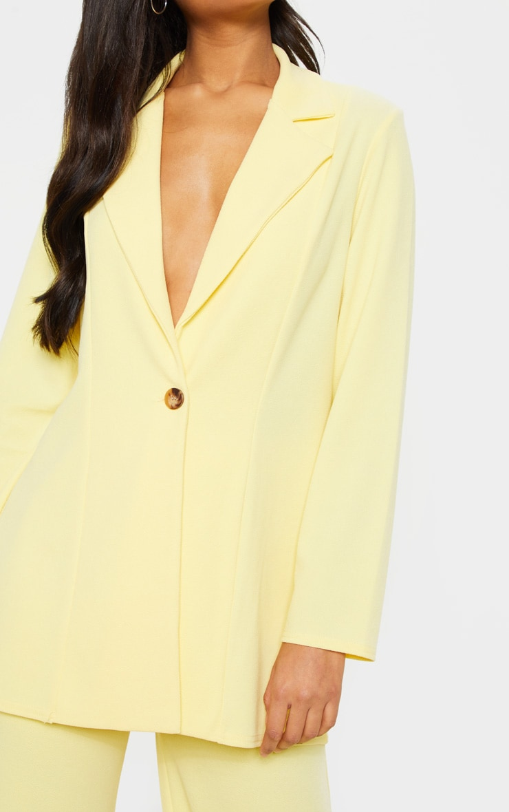 Lemon Oversized Boyfriend Blazer 5