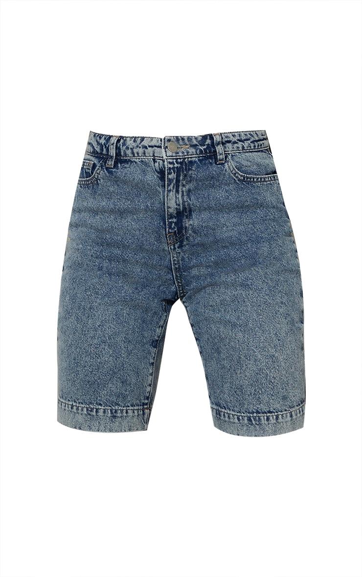 Acid Blue Wash 5 Pocket Cycling Shorts 6