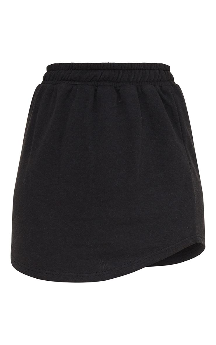 Mini jupe de sport noire légère en sweat 6