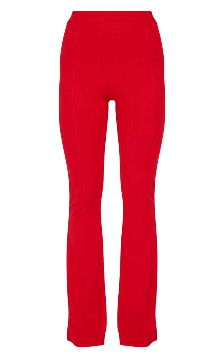 Red Bandage Flared Pants 3