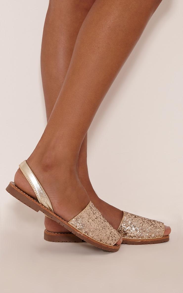 Luciana Gold Glitter Sandals 2