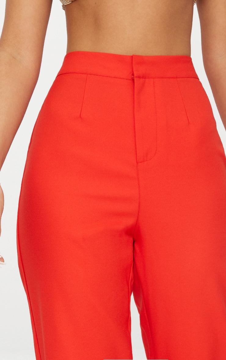 Pantalon cintré droit rouge 5