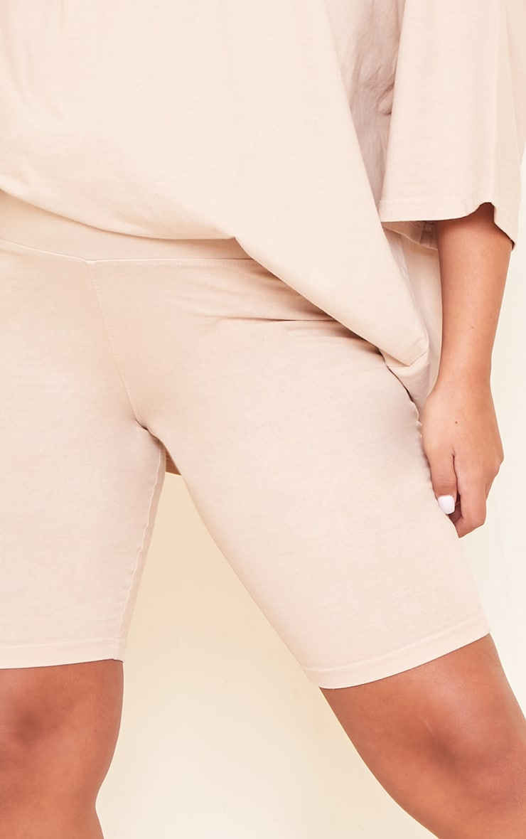 Maternity Stone Bump Support Washed Cotton Cycle Shorts 5