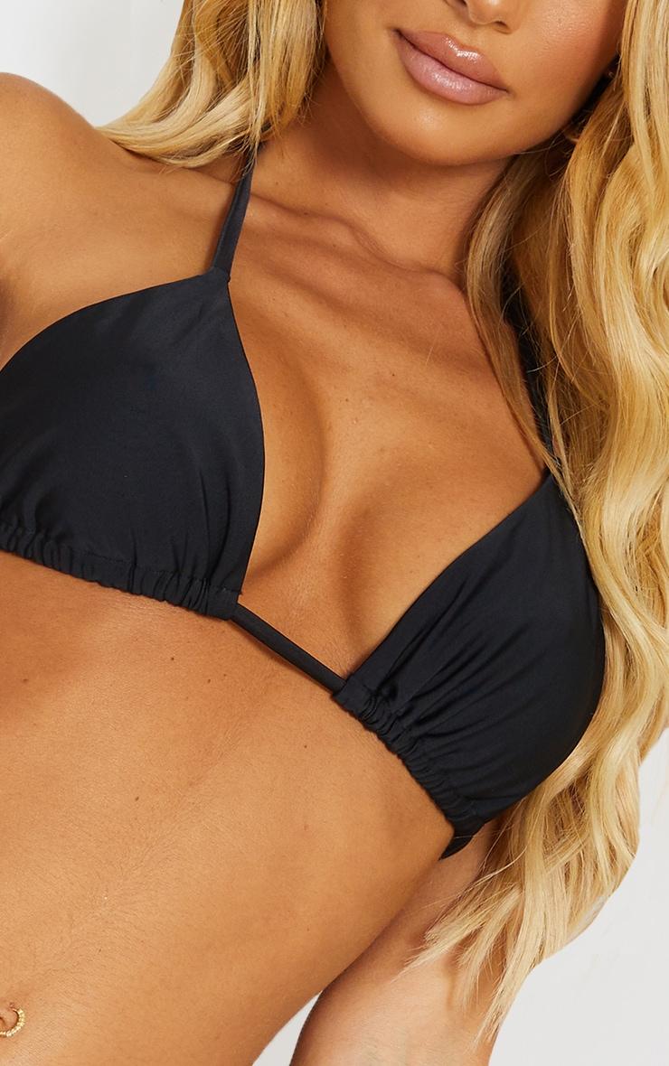 Recycled Mix & Match Black Triangle Bikini Top 4