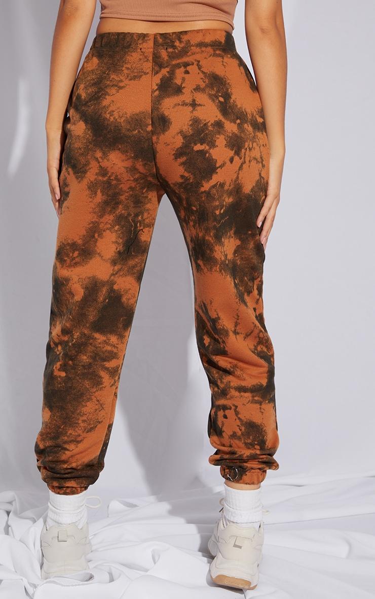 Petite Rust Tie Dye Cuffed Hem Joggers 3