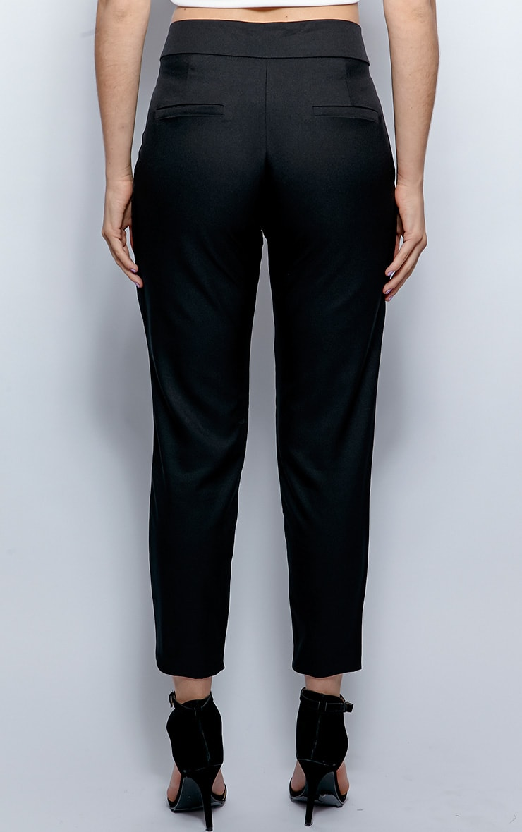 Breanna Black Tailored Linen Trousers 2