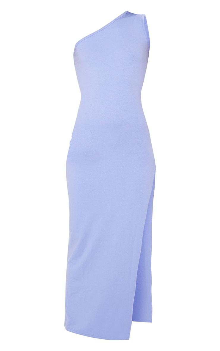 Purple One Shoulder Sleeveless Split Maxi Dress 5