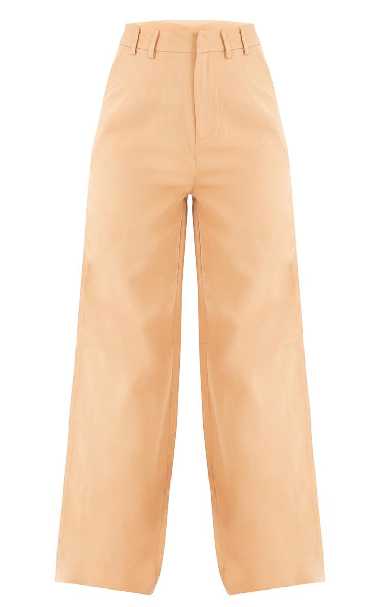 Tall Camel Wide Leg Dad Trouser 5