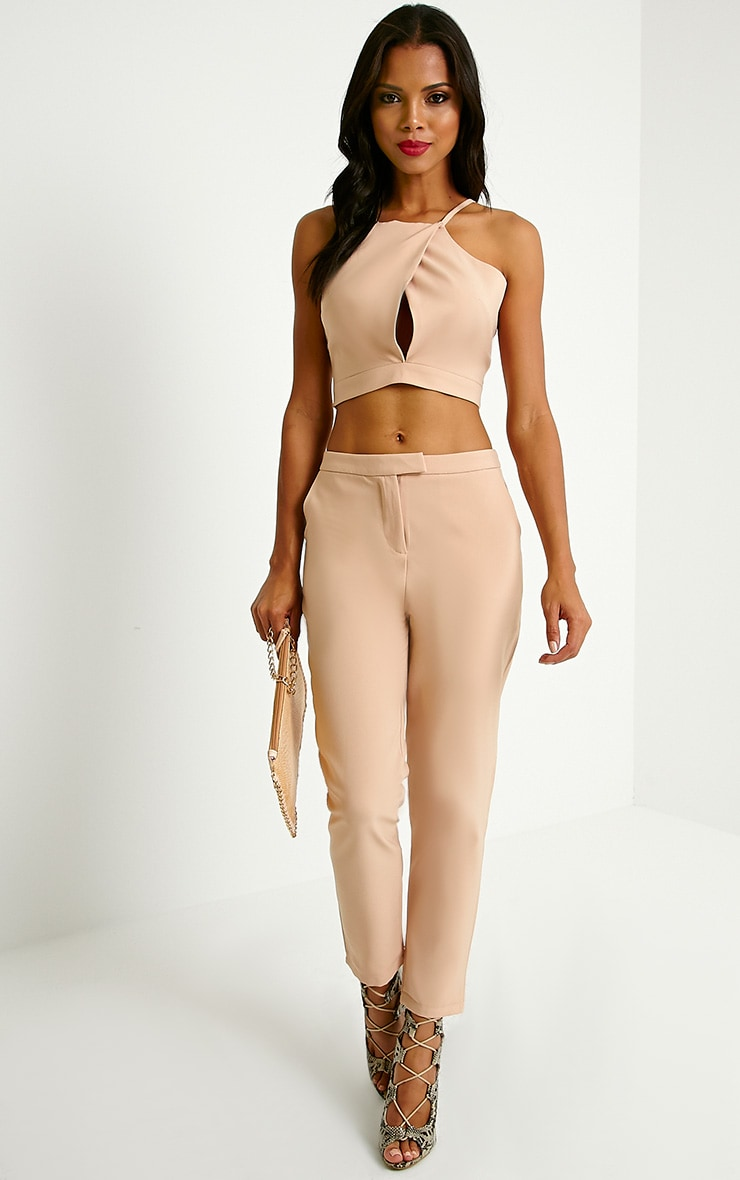 Luana Camel Woven Trousers 1