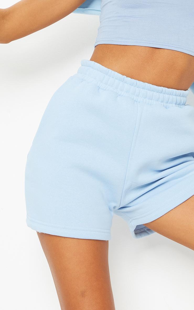Baby Blue Sweat Pocket Shorts 5