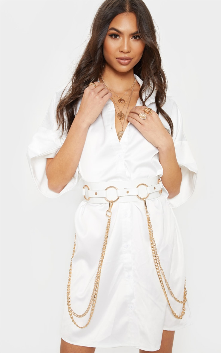 White And Gold Ring and Multi Chain Belt 1